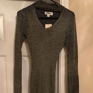 NWT Shiny Gold & Black Dress
